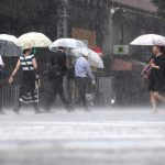 【衝撃】台風の中を「全身ポリ袋」で歩く女をご覧くださいwwwwww(画像あり)