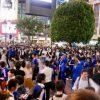 【W杯】渋谷スクランブル交差点、女さんがヤバイことに・・・