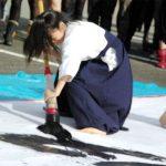 【衝撃】超絶美少女女子高生が書道コンクールで奨励賞wwwガチの美人と話題wwwww(画像あり)